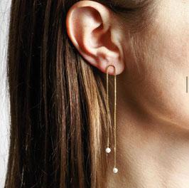 Charlotte Wooning earrings double pearl