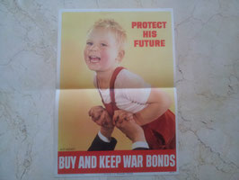 "Póster ""Buy and keep war bonds"". WWII."