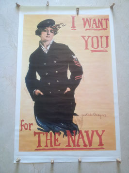 "Póster ""I want you for the Navy"". Vietnam."