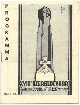 Programmaboekje - 18de Ijzerbedevaart - 1937