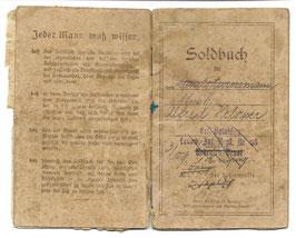 Preussen - Soldbuch - Landw.-Inf.-Rgt. Nr. 65 - 1917