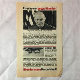 Allied leaflet 'Eisenhower gegen Himmler'
