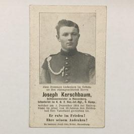 Deathcard of 'Joseph Kerschbaum'