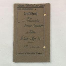 German Militärpass - 'Kanonnier Bruno Lander'
