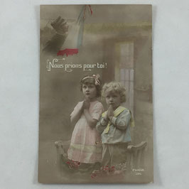 French Postcard 'Nous prions pour toi'