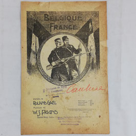 Belgique et France ! Paroles de Roland Gaël, musique de W.-J. Paans
