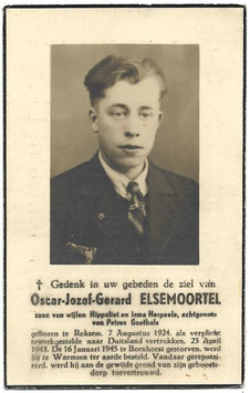 Doodsprentje 'Oscar-Jozef-Gerard Elsemoortel'