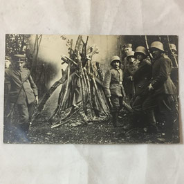 German soldiers around a fire