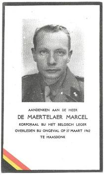 Doodsprentje 'De Maertelaer Marcel'