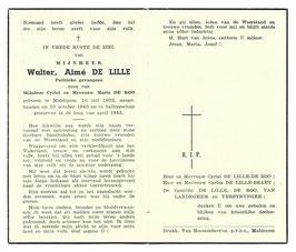 Doodsprentje 'Walter Aimé de Lille'