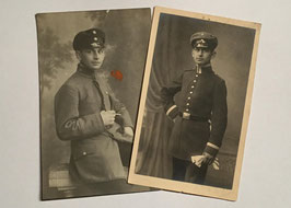 2 pictures of a german soldier