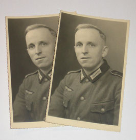Pair of photographs of a german soldier