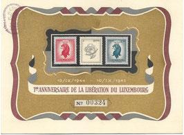 Bevrijdingspostzegels '1er Anniversaire de la libération du Luxembourg' - 1945