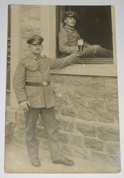 German soldiers having a beer