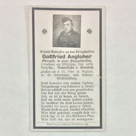 Deathcard of 'Gottfried Angloher'