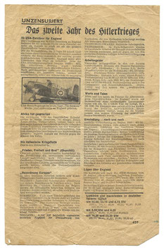 Geallieerd pamflet 'Das zweite Jahr des Hitlerkrieges'