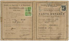 Belgisch document - 'Carte d'etable' - 1941
