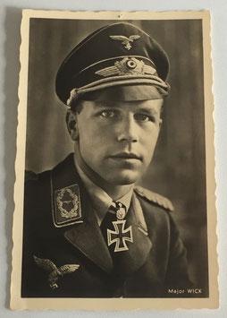 German postcard 'Ritterkreuzträger Major Wick' by 'Hoffmann'