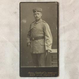 CDV Duits soldaat met 'Krätzchen' en 'Schützenschnur'