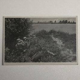 German postcard 'Unsere Wehrmacht' - 'MG34 auf Lafette'