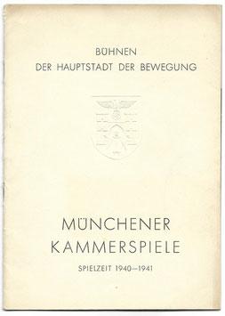 Programmaboekje - Münchener Kammerspiele - 1940