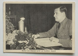 German postcard 'Baldur von Schirach spricht zur deutschen Jugend'