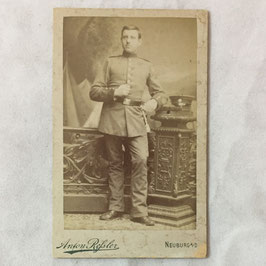CDV German Soldier - Neuburg a/D