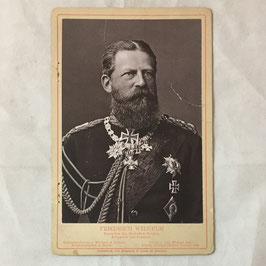 Portrait of 'Kaiser Friedrich' on cardboard
