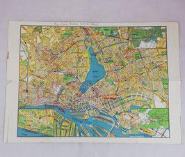 'Hansestadt Hamburg' touristmap