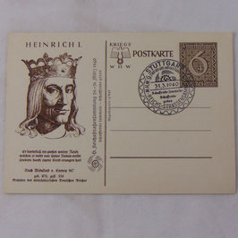 German postcard 'WHW Kriegspostkarte Heinrich I'