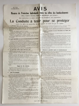 French notice for the civilian population of Haubourdin