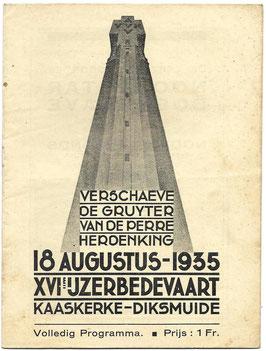 Programmaboekje - 16de Ijzerbedevaart - 1935