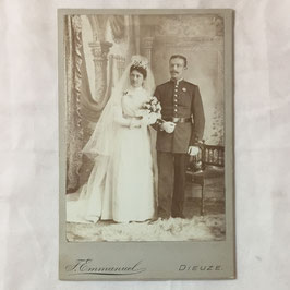 CDV German soldier with wife - Dieuze