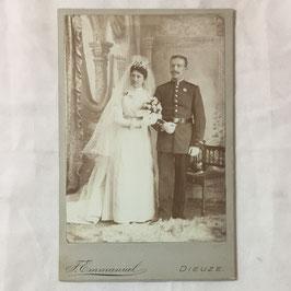 CDV Duits soldaat met echtgenote - Dieuze