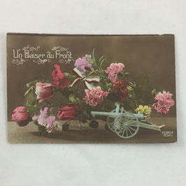 French Postcard 'Un baiser du Front'