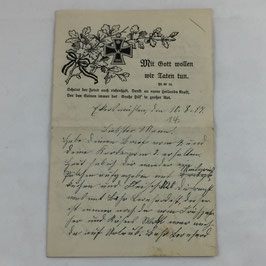 German 'Feldpost' dated 10.8.17