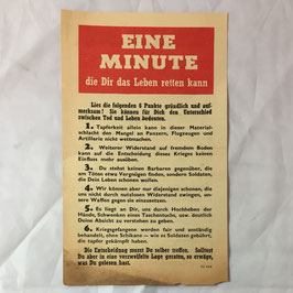 Allied leaflet 'Eine Minute die Dir das Leben retten kann'