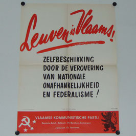 Poster of the Belgian Communist Party 'Leuven Vlaams' - '60