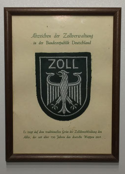 Framed shoulderpatch of the 'Zollverwaltung'