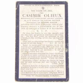 Doodsprentje 'Casimir Olieux'