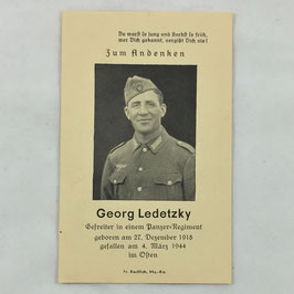 Deathcard of 'Georg Ledetzky'