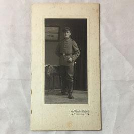CDV Duits soldaat met kepie en bajonet