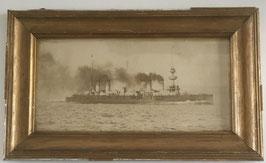 Original framed photograph of french cruiser 'Montcalm'