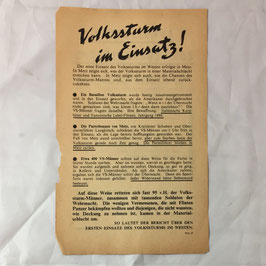Allied leaflet targeting the 'Volkssturm'