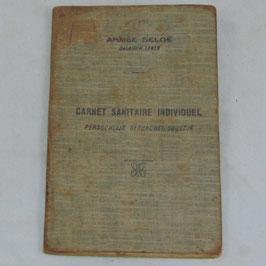 Armée Belge - Carnet Sanitaire Individuel / Belgisch leger - Persoonijk gezondheidsboekje
