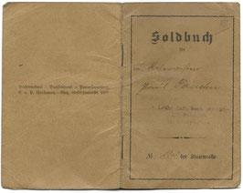 'Soldbuch' - '1. Lothringisches Infanterie-Regt. N°130 III Bataillon'