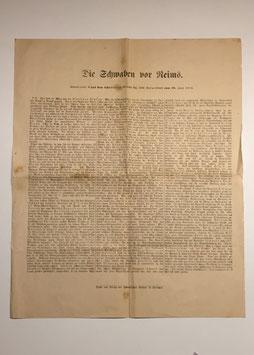 Special edition 'Die Schwaben vor Reims' 28.06.1918