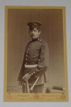 CDV German Soldier - Wiesbaden
