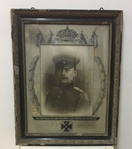 Large framed photograph of german soldier