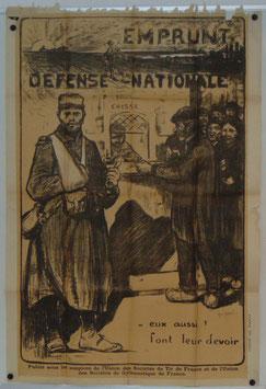 Franse poster 'Emprunt de la Défense Nationale - eux aussi! Font leur devoir' - 1915